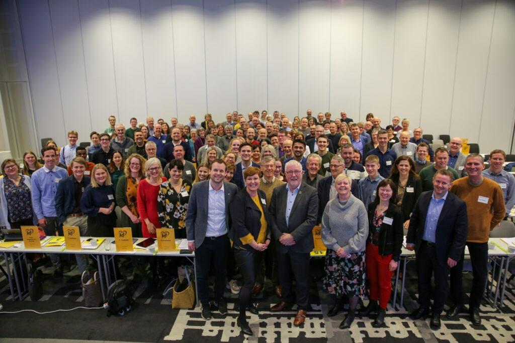 Gruppebilde av alle delegatene på fylkesårsmøtet i Rogaland KrF 2020