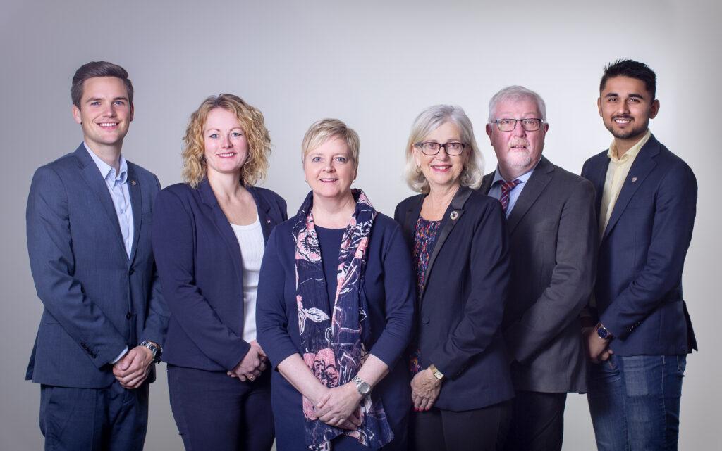 Gruppebilde av fylkestingsgruppen til Rogaland KrF 2019-2023