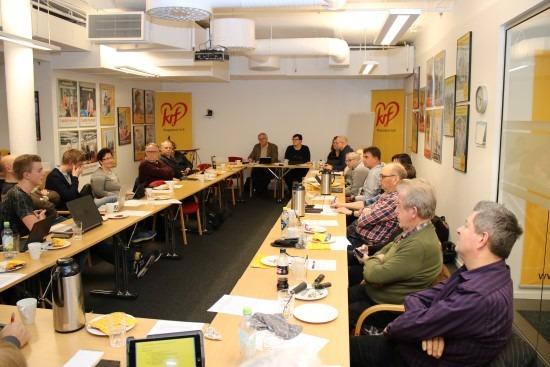 Bilde fra fylkesstyremøtet i Rogaland KrF i januar 2018