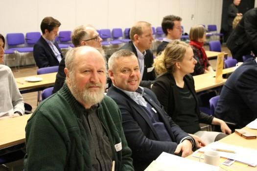 Bilde av Kjell Nes og Henrik Halleland på fylkesårsmøtet i Rogaland KrF i 2018