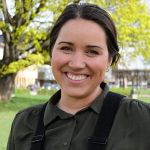 Charlotte Veland Hoven smiler