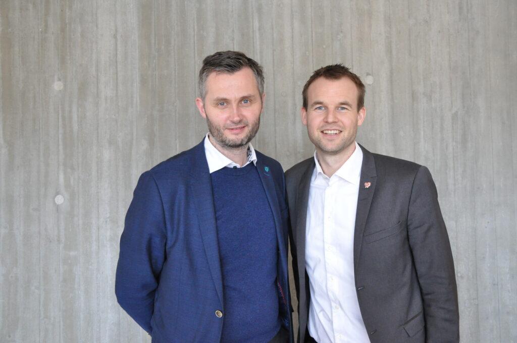 Fylkesleder Per Sverre Kvinlaug og Barne- og familieminister Kjell Ingolf Ropstad