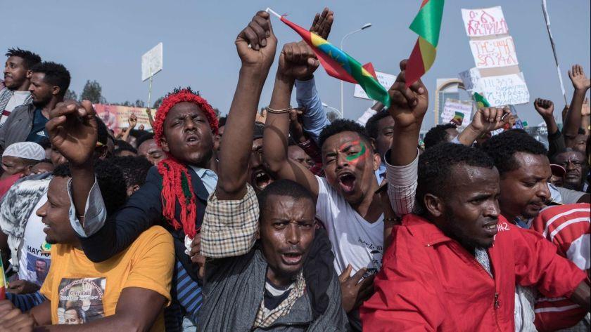 tiopisk folkemøte i 2018. Foto: Yonas Tadese / AFP / Ghetty Images
