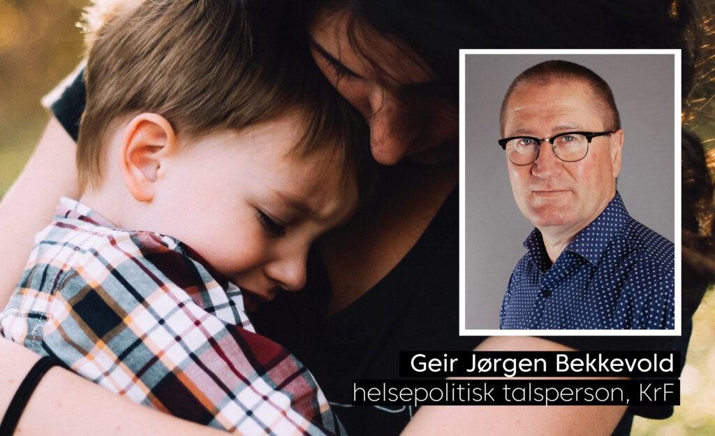 Geir Jørgen Bekkevold med illustrasjonsbilde av en gutt