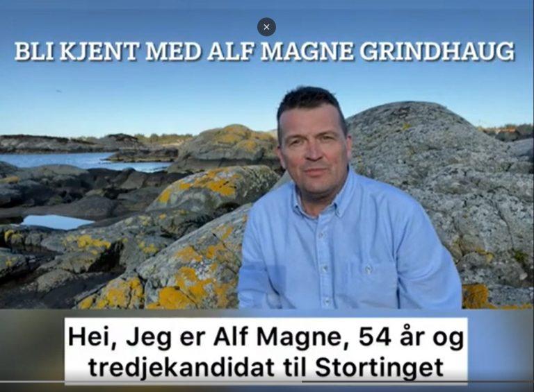 Skjermdump av film av Alf Magne Grindhaug