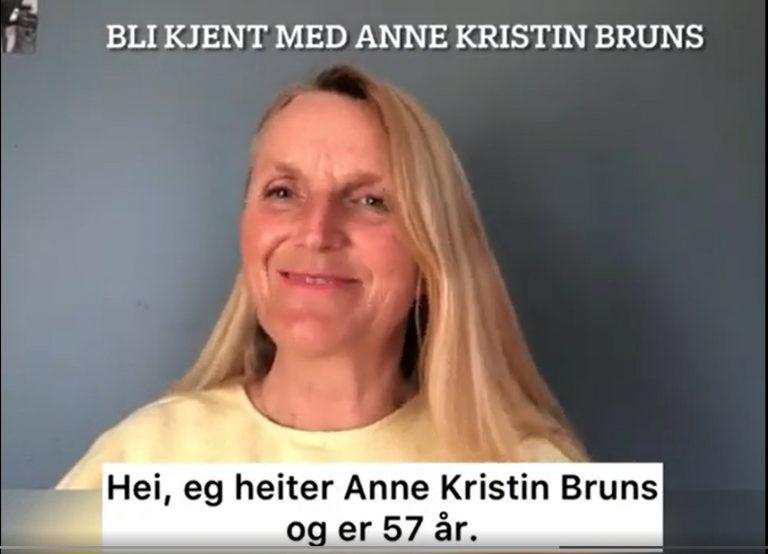 Skjermdump av valgkampfilm til Anne Kristin Bruns