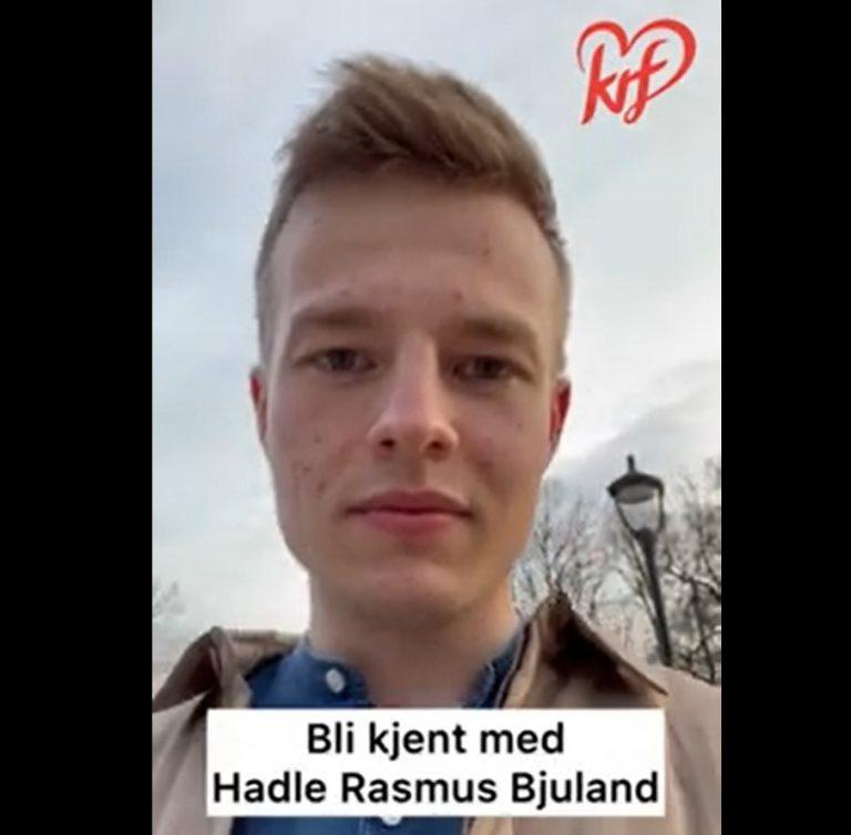 Skjermdump av video med Hadle Rasmus Bjuland