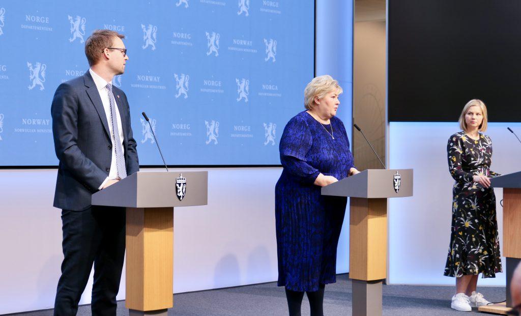 Kjell Ingolf Ropstad, Erna Solberg og Guri Melby