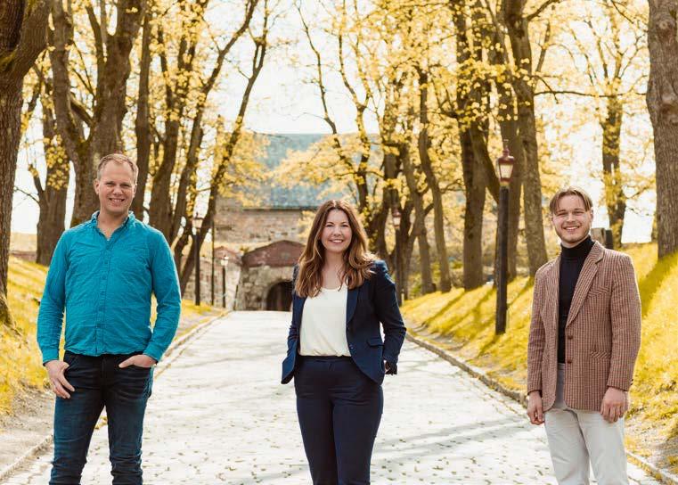 Einar Kiserud, Maria Moe og Herman Midtsjø
