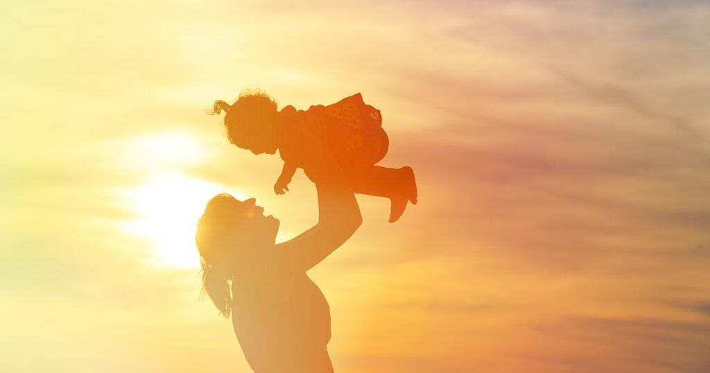 Illustrasjonsbilde mor og barn