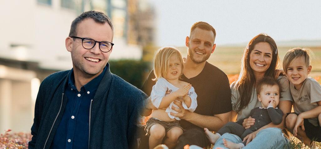 Kjell Ingolf Ropstad og barnefamilie